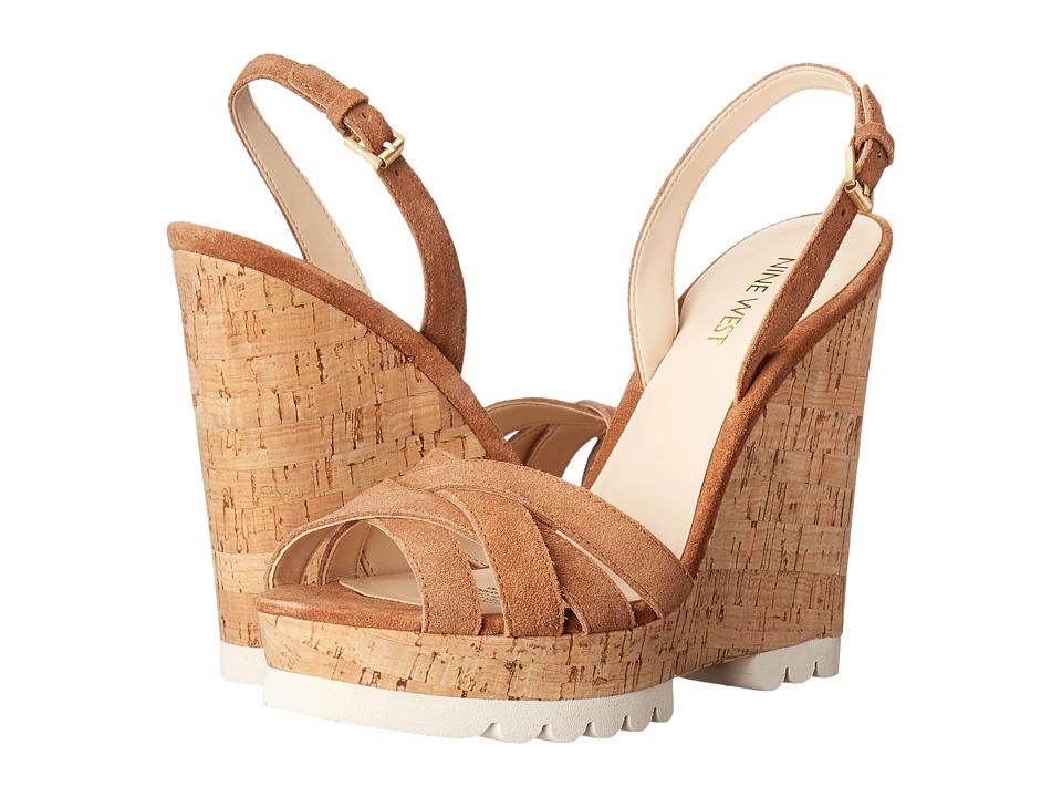 Nine West Kindeyes Natural Suede Shoes