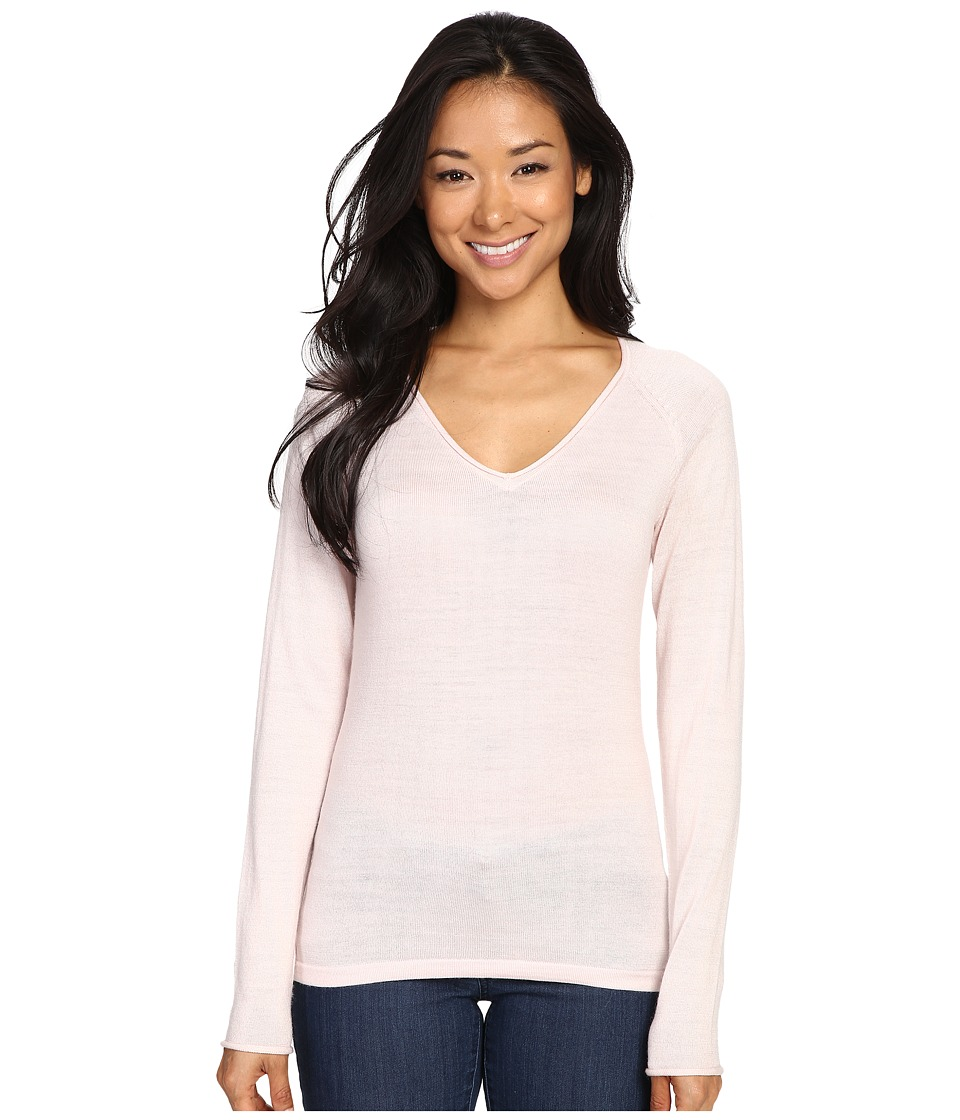 Smartwool - Granite Falls V-Neck Top (Pink Horizon) Women's Long Sleeve Pullover