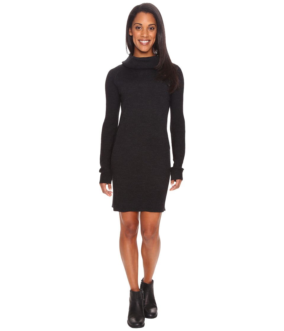 Smartwool Granite Falls Sweater Dress (Charcoal Heather) Women