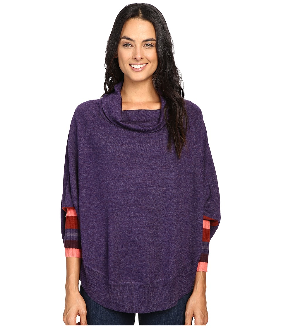 Smartwool Nokoni Striped Poncho (Mountain Purple Heather) Women