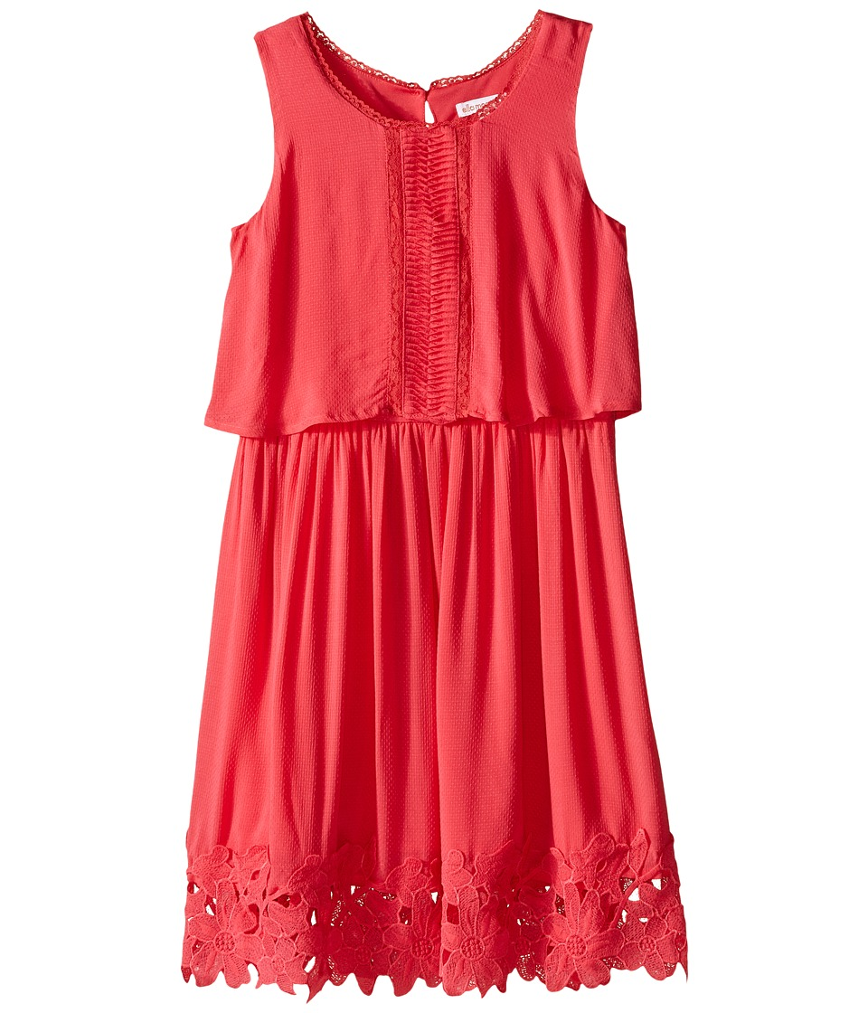Ella Moss Girl - Kali Dress w/ Crochet Trim (Big Kids) (Pink) Girl