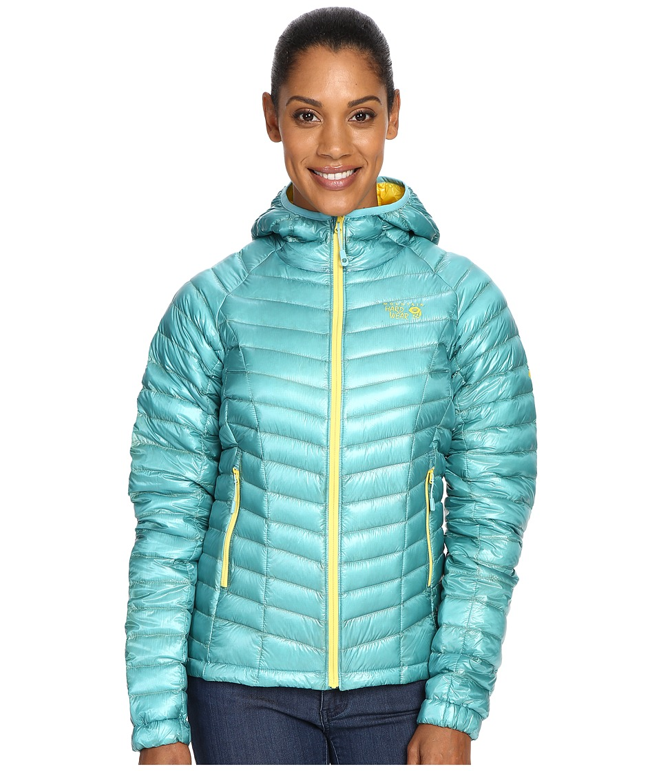 Mountain Hardwear - Ghost Whisperer Down Hooded Jacket (Spruce Blue) Women's Coat