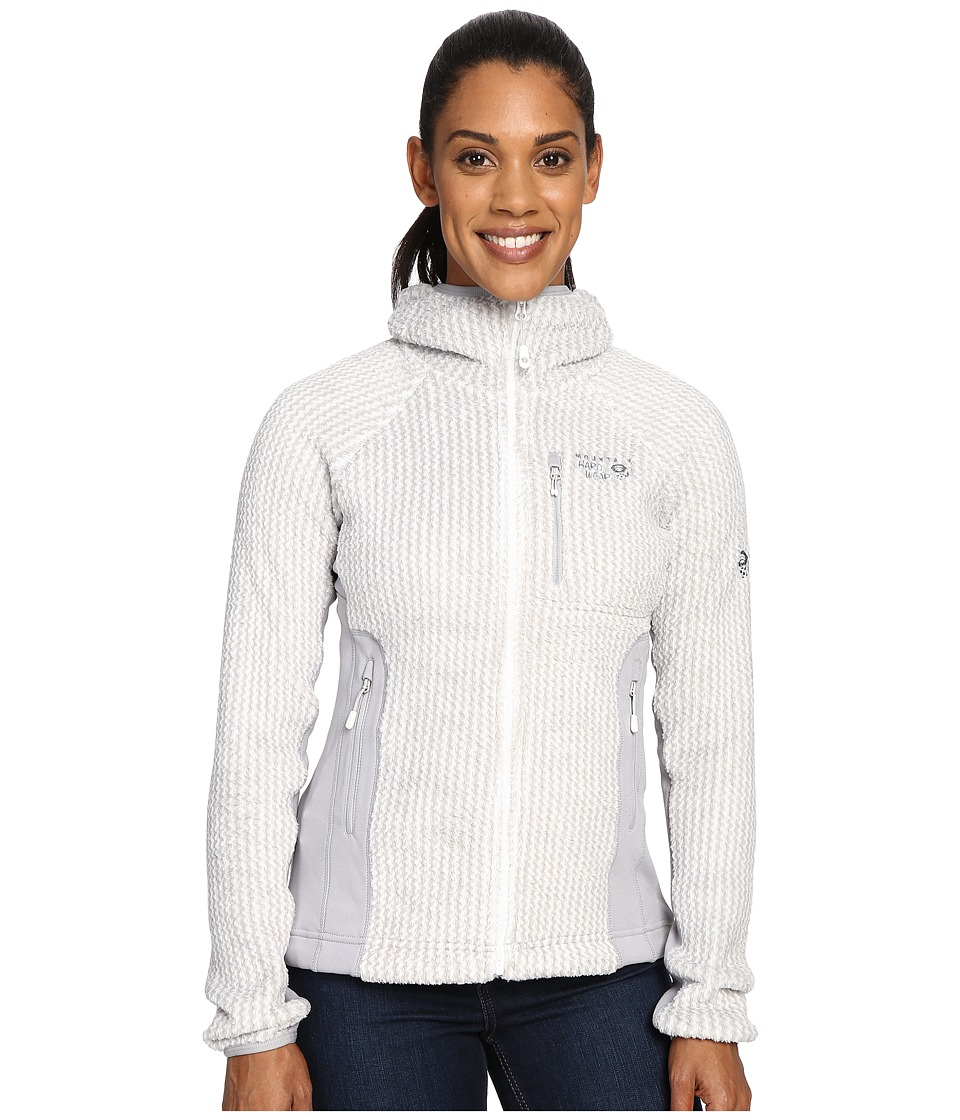 Mountain Hardwear - Monkey Woman Pro Hooded Jacket (White) Women's Coat