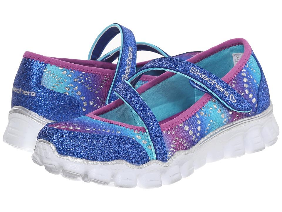 SKECHERS KIDS - Skech Flex II - Glitzy Girl 81241L (Little Kid/Big Kid) (Blue/Purple) Girl's Shoes