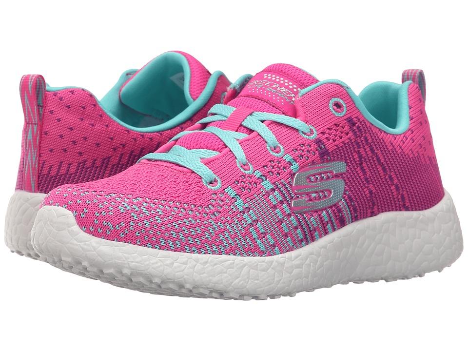 SKECHERS KIDS - Energy Burst - Ellipse 81908L (Little Kid/Big Kid) (Neon Pink/Turquoise) Girl's Shoes