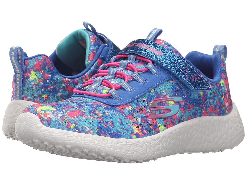 SKECHERS KIDS - Energy Burst - Illumination 81910L (Little Kid/Big Kid) (Blue/Multi) Girl's Shoes
