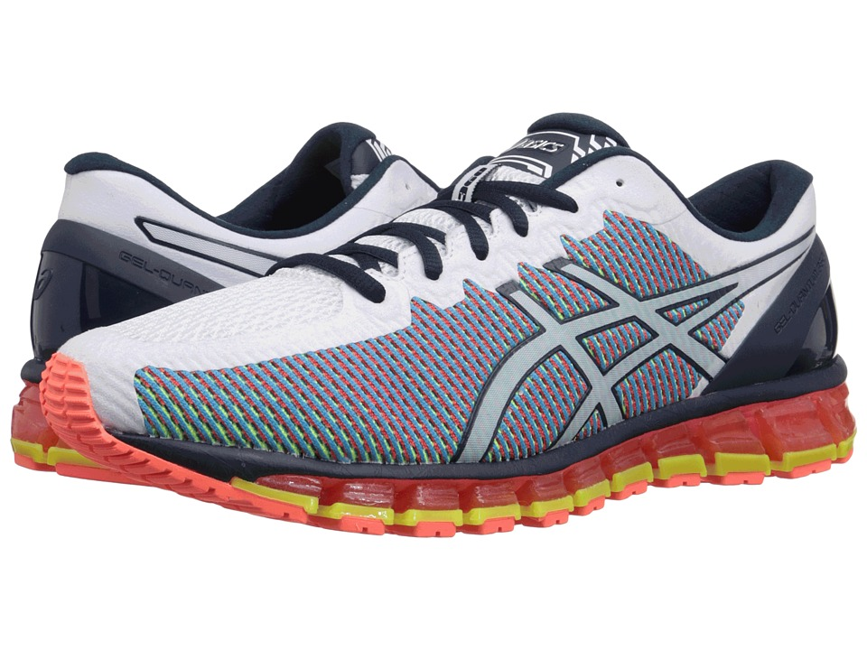 ASICS - Gel-Quantum 360 CM (White/Dark Navy/Safety Yellow) Men's Running Shoes
