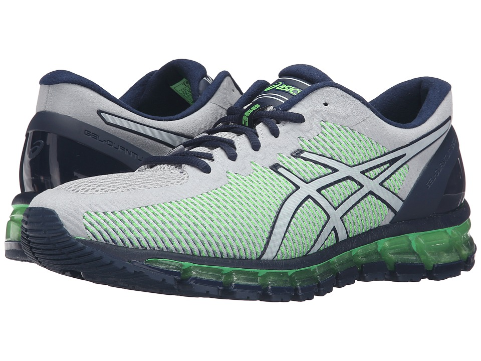 ASICS - Gel-Quantum 360 CM (Mid Grey/White/Green Gecko) Men's Running Shoes