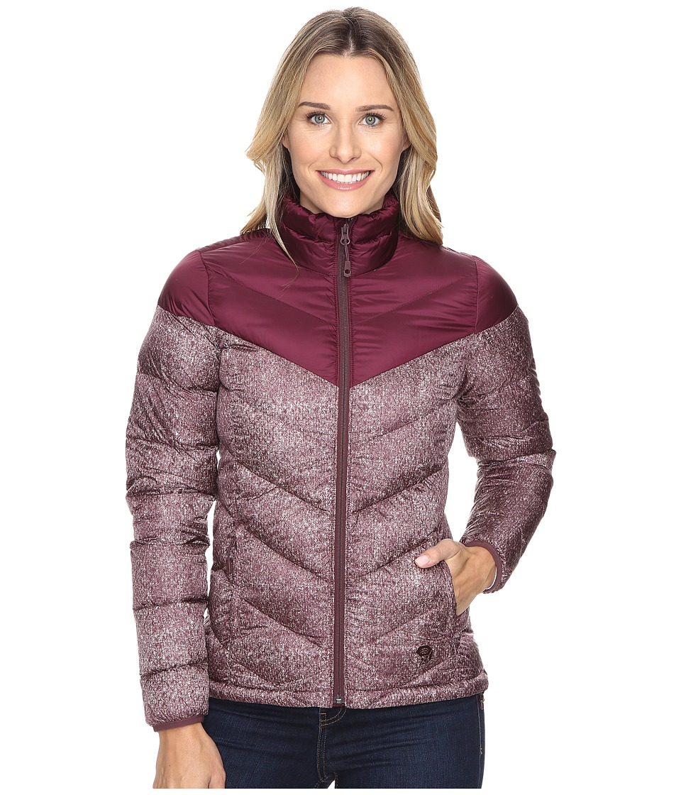 Mountain Hardwear - Ratio Printed Down Jacket (Marionberry/Purple Plum) Women's Coat