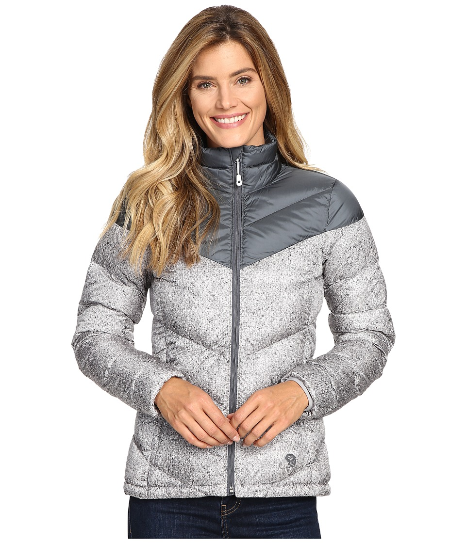 Mountain Hardwear - Ratio Printed Down Jacket (Graphite/Steam) Women's Coat