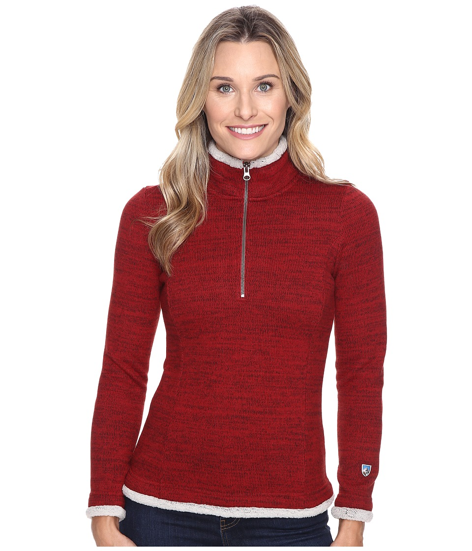 Kuhl - Alska 1/4 Zip (Red Spice) Women's Long Sleeve Pullover