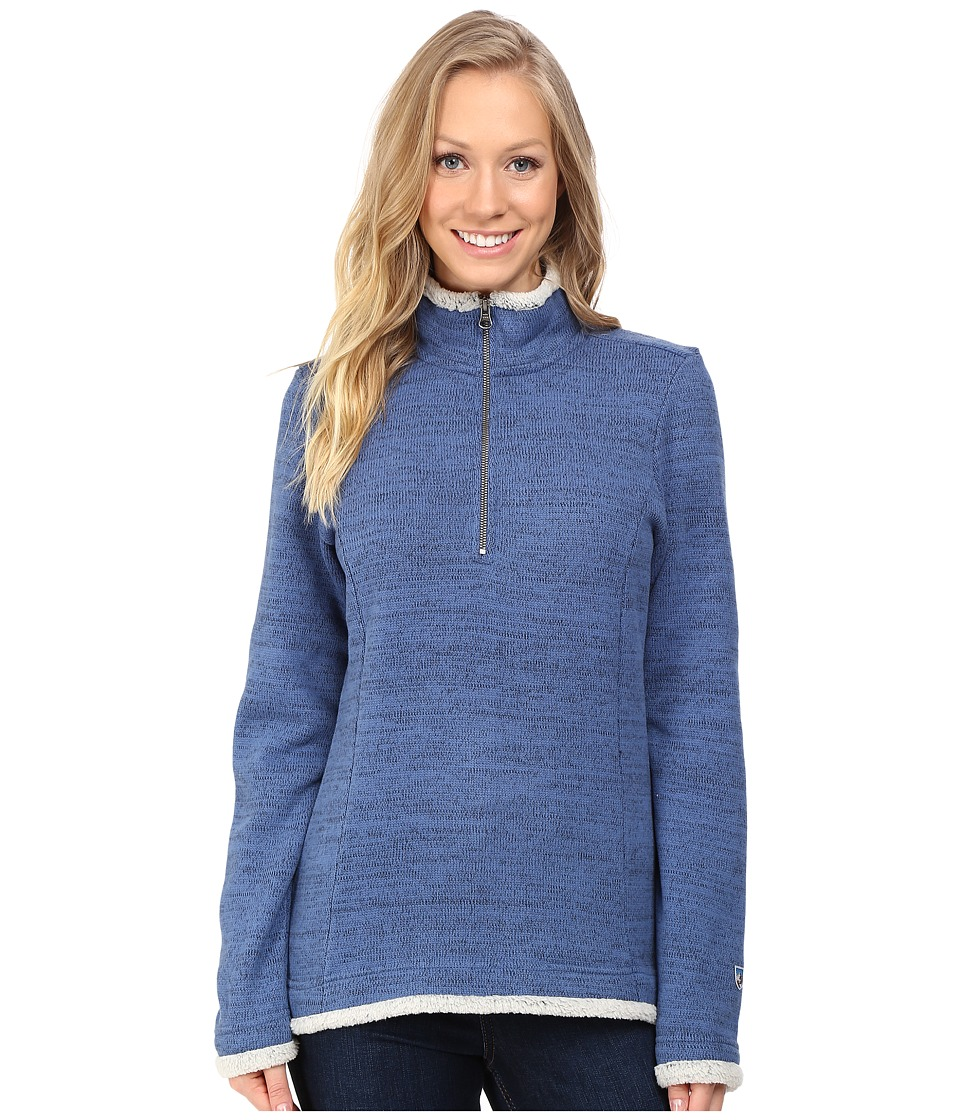 KUHL - Alska 1/4 Zip (Storm Blue) Women's Long Sleeve Pullover