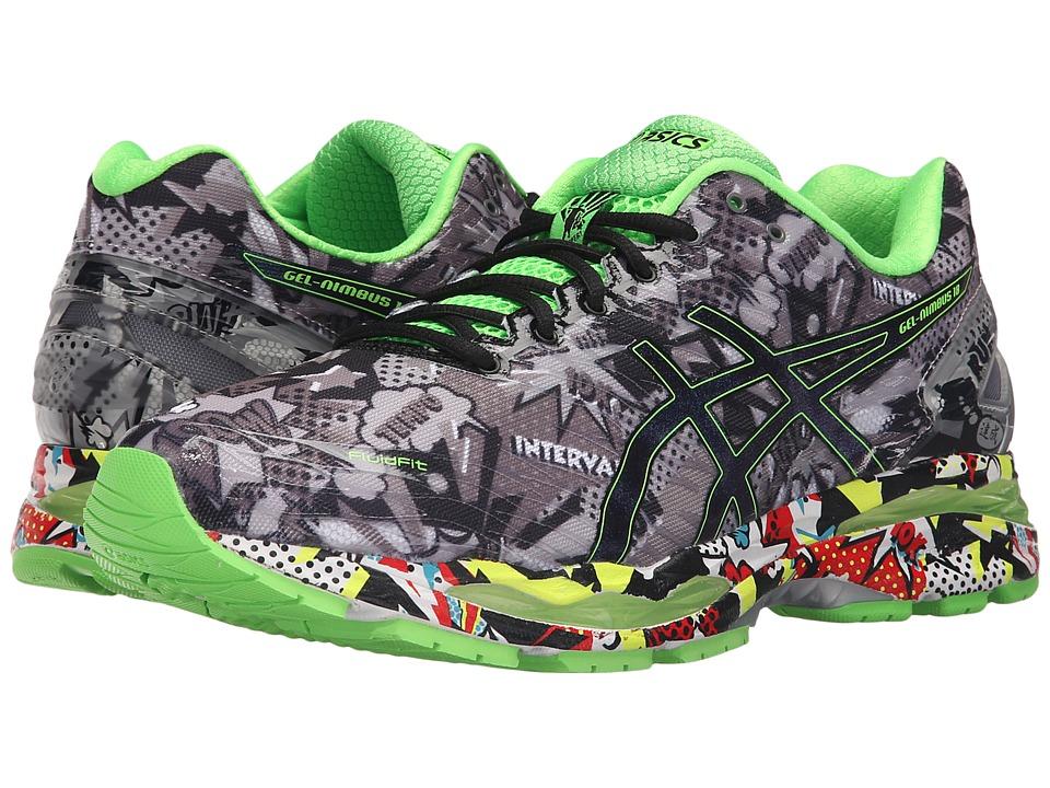 Asics Gel-Nimbus(r) 18 (Carbon/Black/Green Gecko) Men's R...