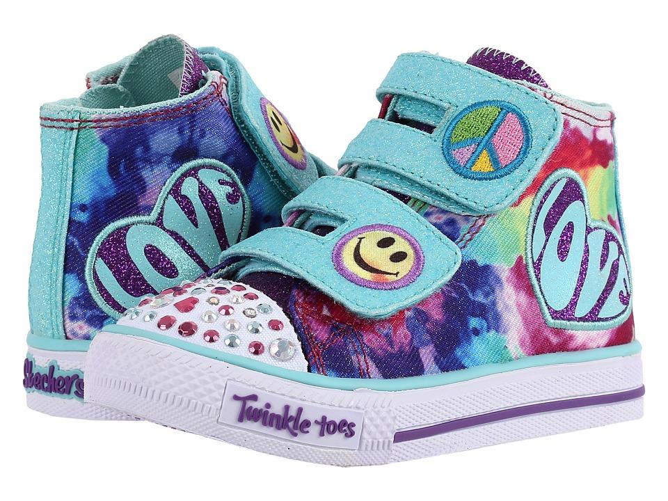 SKECHERS KIDS - Shuffles - 10644N Lights (Toddler/Little Kid) (Multi) Girl's Shoes