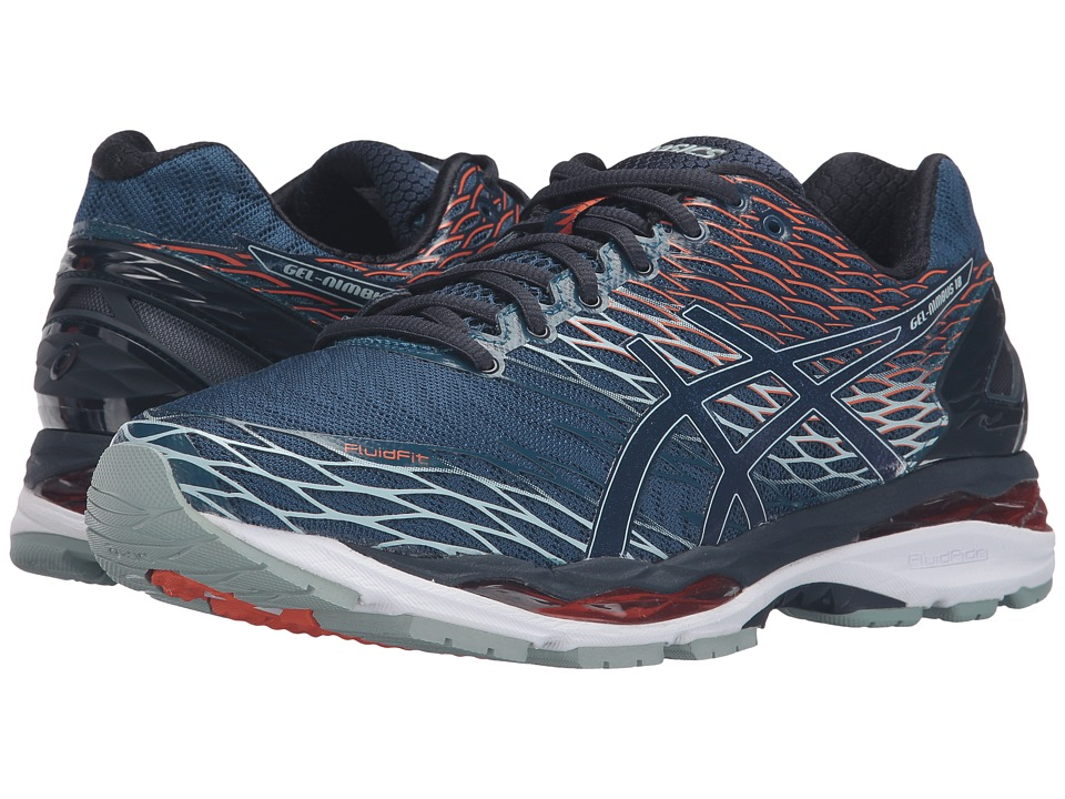 ASICS - Gel-Nimbus 18 (Poseidon/Dark Saphire/Koi) Men's Running Shoes