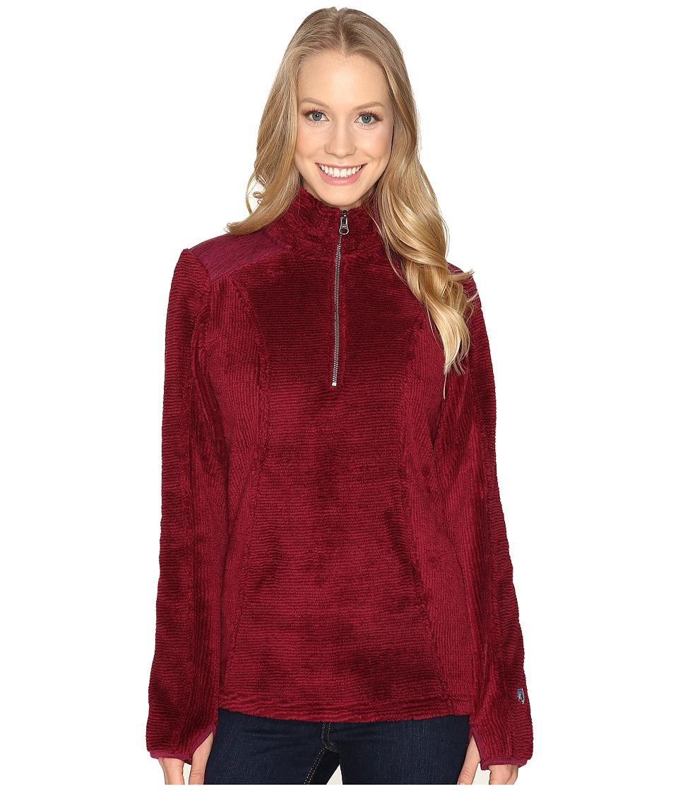 KUHL - Alto 1/4 Zip (Claret) Women's Long Sleeve Pullover