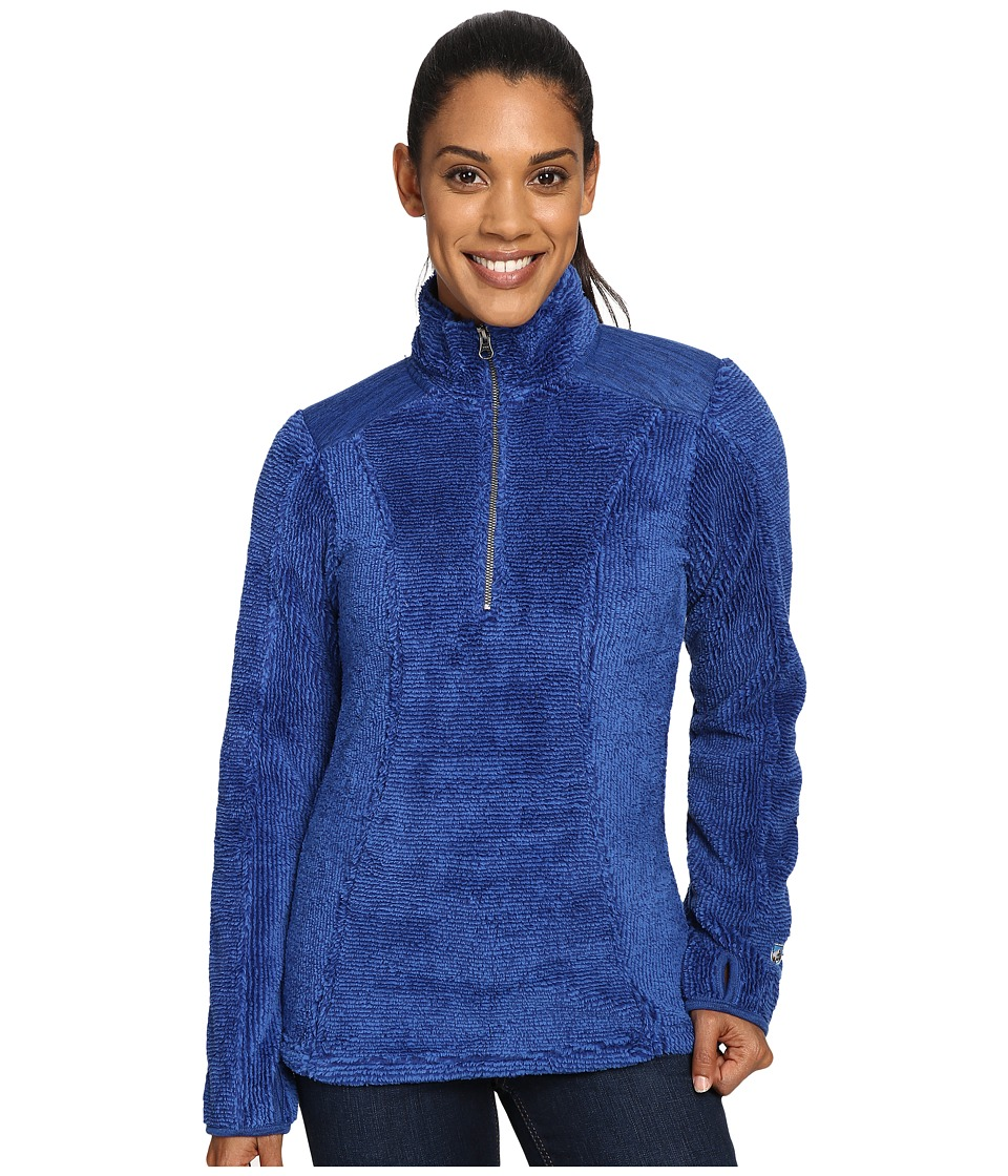 KUHL - Alto 1/4 Zip (Sapphire) Women's Long Sleeve Pullover
