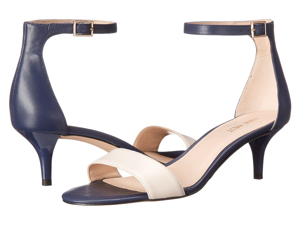 Nine West - Leisa (Navy/Off-White Leather) Women's Shoes