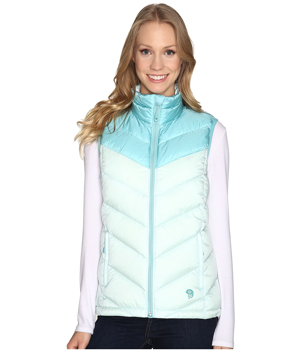 Mountain Hardwear Ratio Down Vest (Gossamer Blue/Spruce Blue) Women