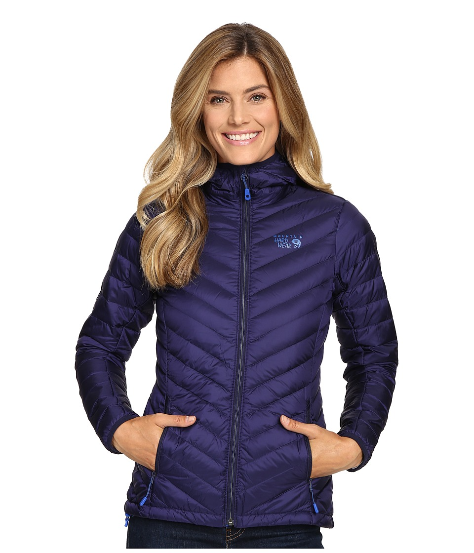 Mountain Hardwear - Micro Ratio Hooded Down Jacket (Indigo Blue) Women's Coat