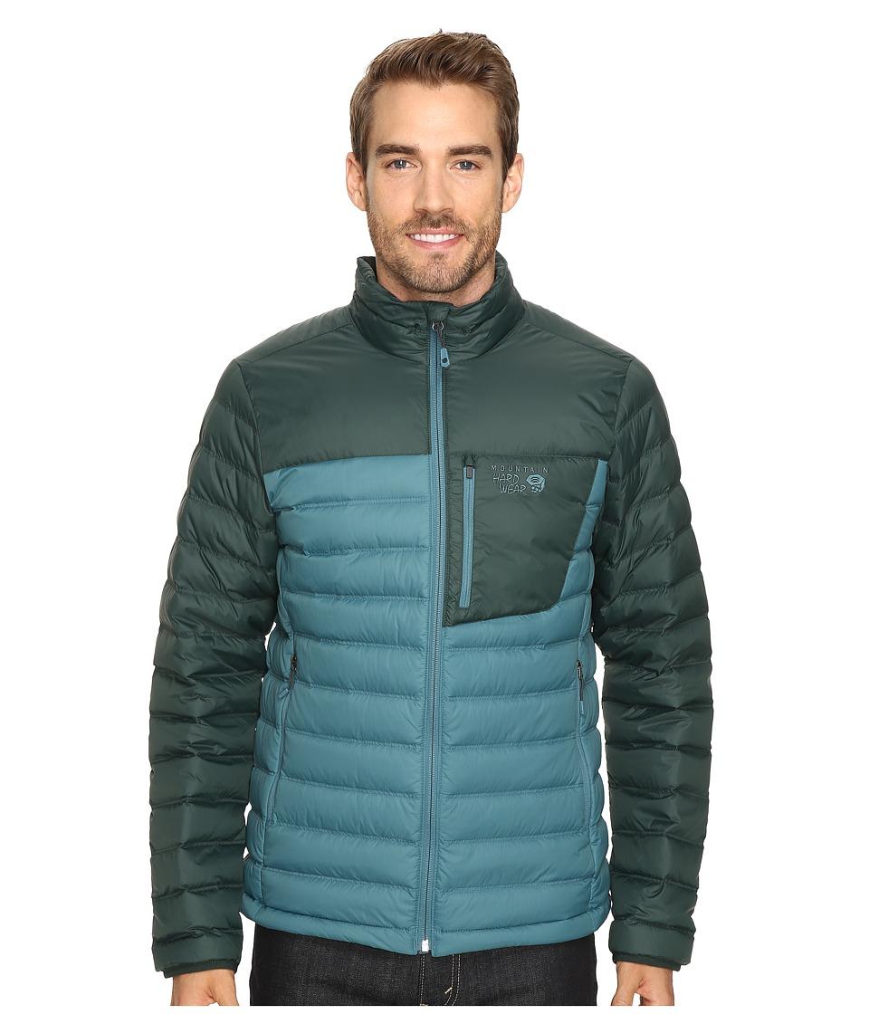 Mountain Hardwear - Dynotherm Down Jacket (Cloudburst/Dark Forest) Men's Coat