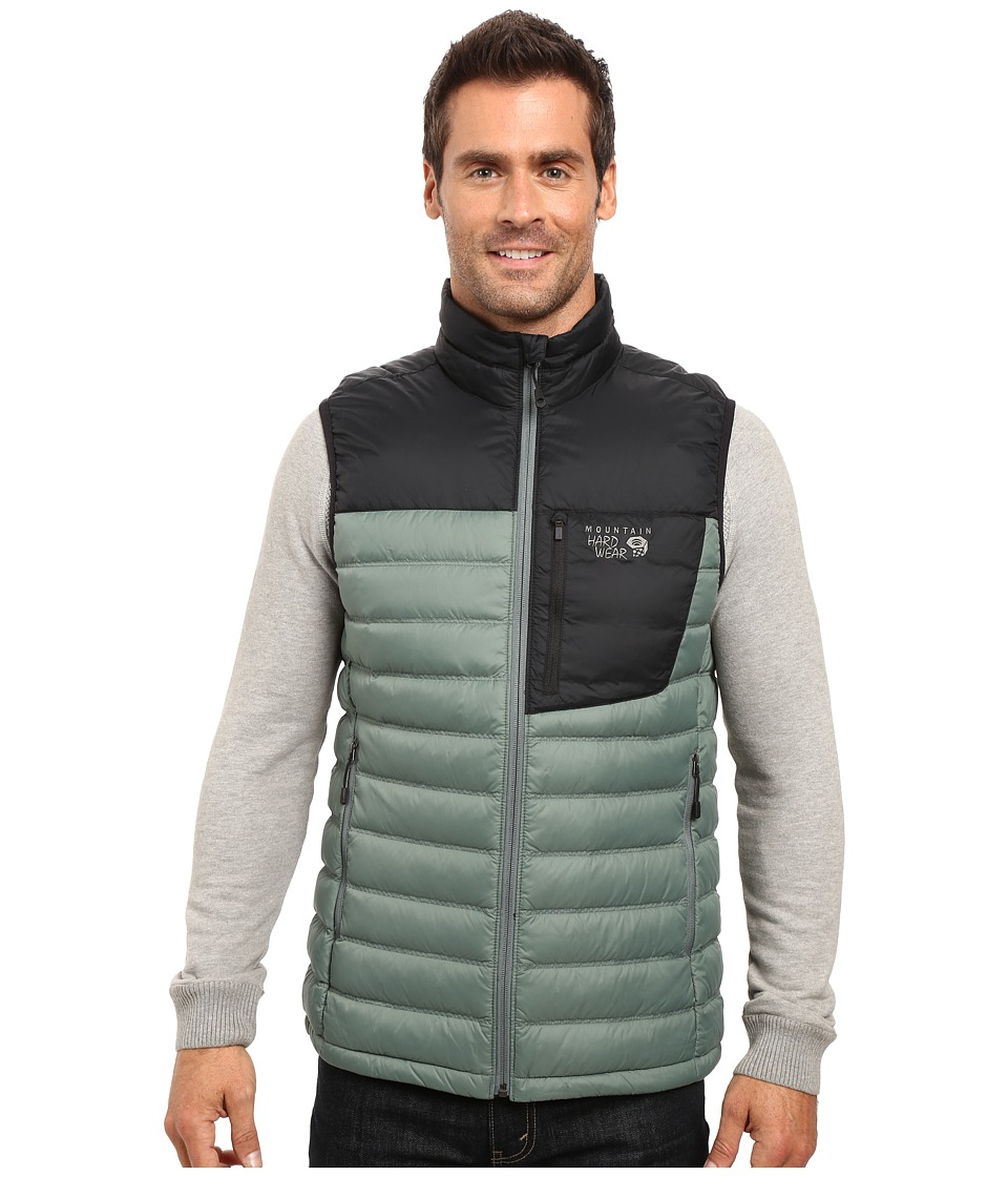 Mountain Hardwear - Dynotherm Down Vest (Thunderhead Grey/Black) Men's Coat