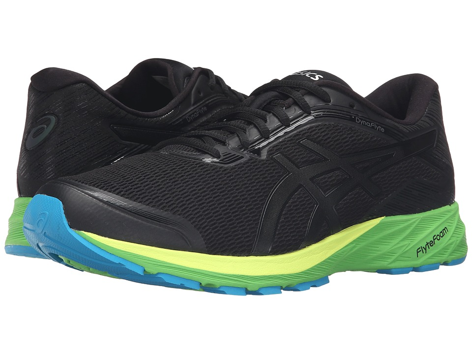 ASICS - DynaFlyte (Black/Onyx/Green Gecko) Men's Running Shoes