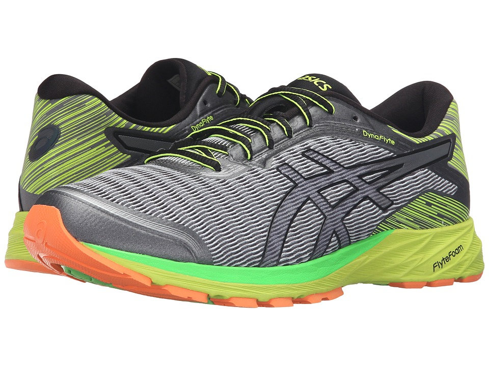 ASICS - DynaFlyte (Mid Grey/Black/Safety Yellow) Men's Running Shoes
