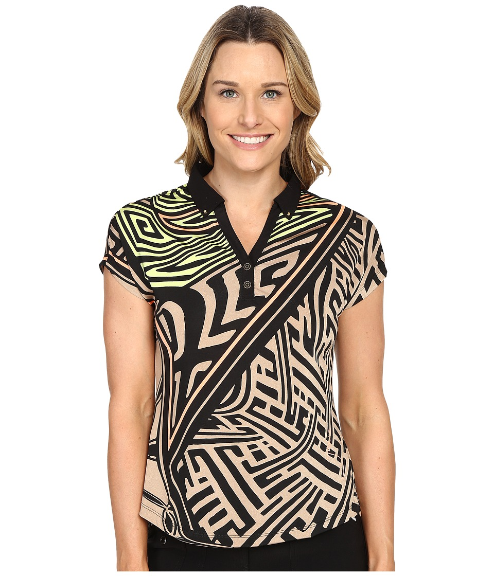 Jamie Sadock - Mad Scientist Print Short Sleeve Top (Toffee) Women's Blouse
