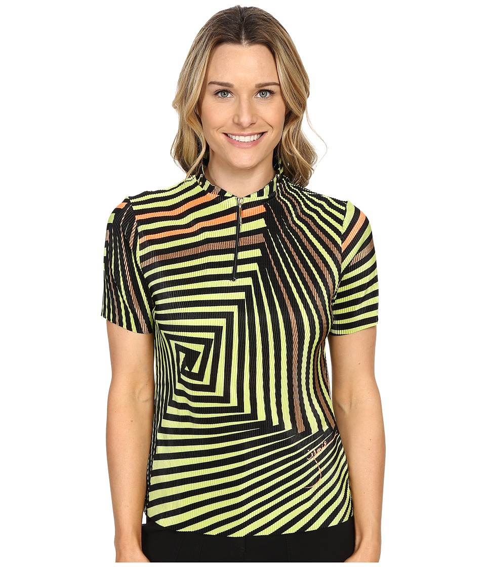 Jamie Sadock - Twister Print Crunchy Short Sleeve Top (Lime Crime) Women's Short Sleeve Pullover