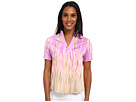 Fringe Print Short Sleeve Top