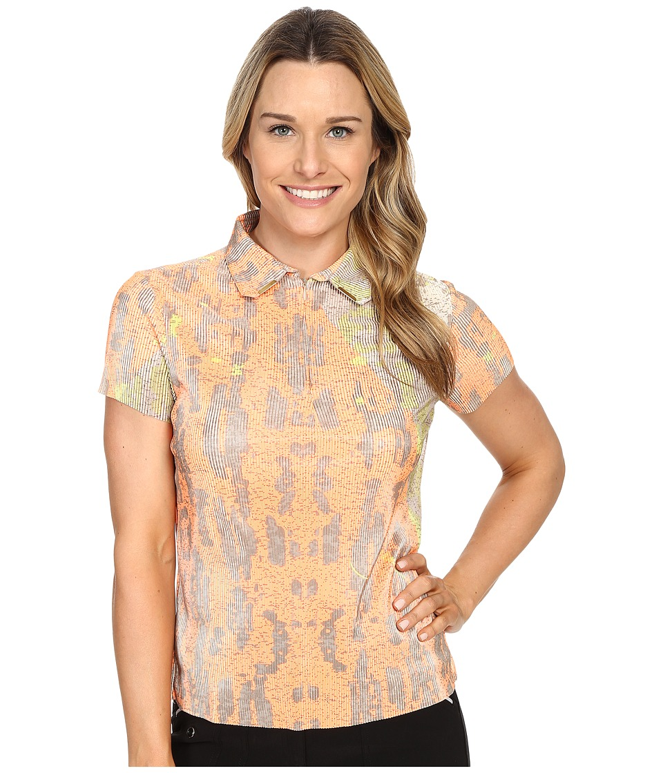 Jamie Sadock - Morning Star Print Crunchy Short Sleeve Top (Heat Wave) Women's Clothing