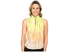Fringe Print Sleeveless Top