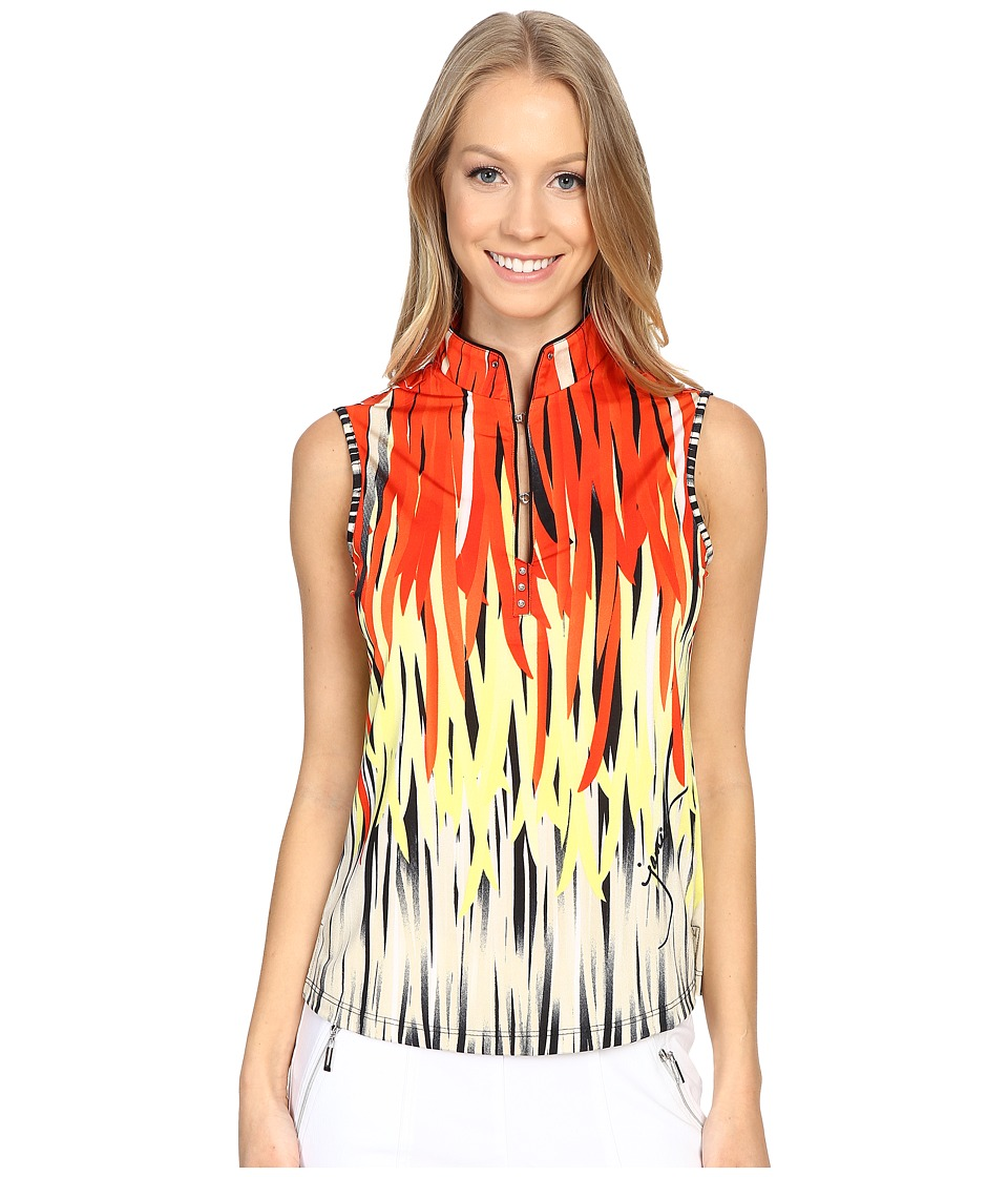 Jamie Sadock - Fringe Print Sleeveless Top (Firework Red) Women's Sleeveless