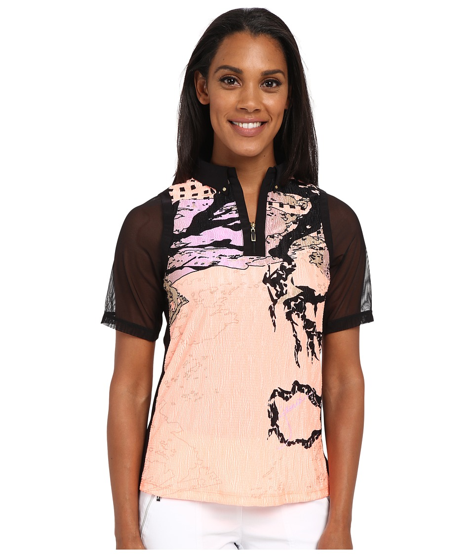 Jamie Sadock - Shanghai Print Crunchy Short Sleeve Top (Contessa) Women's Clothing