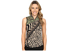 Mad Scientist Print Sleeveless Top