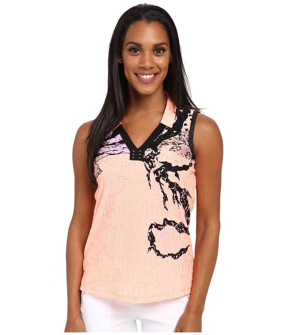 Jamie Sadock - Shanghai Print Crunchy Sleeveless Top (Contessa) Women's Sleeveless
