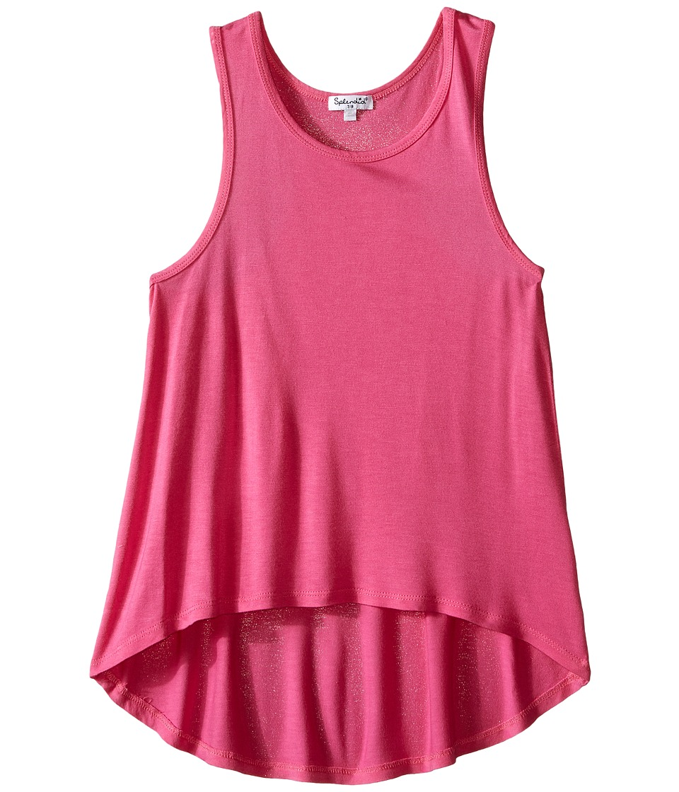 Splendid Littles - Hi-Low Tank Top (Big Kids) (Pink) Girl's Sleeveless