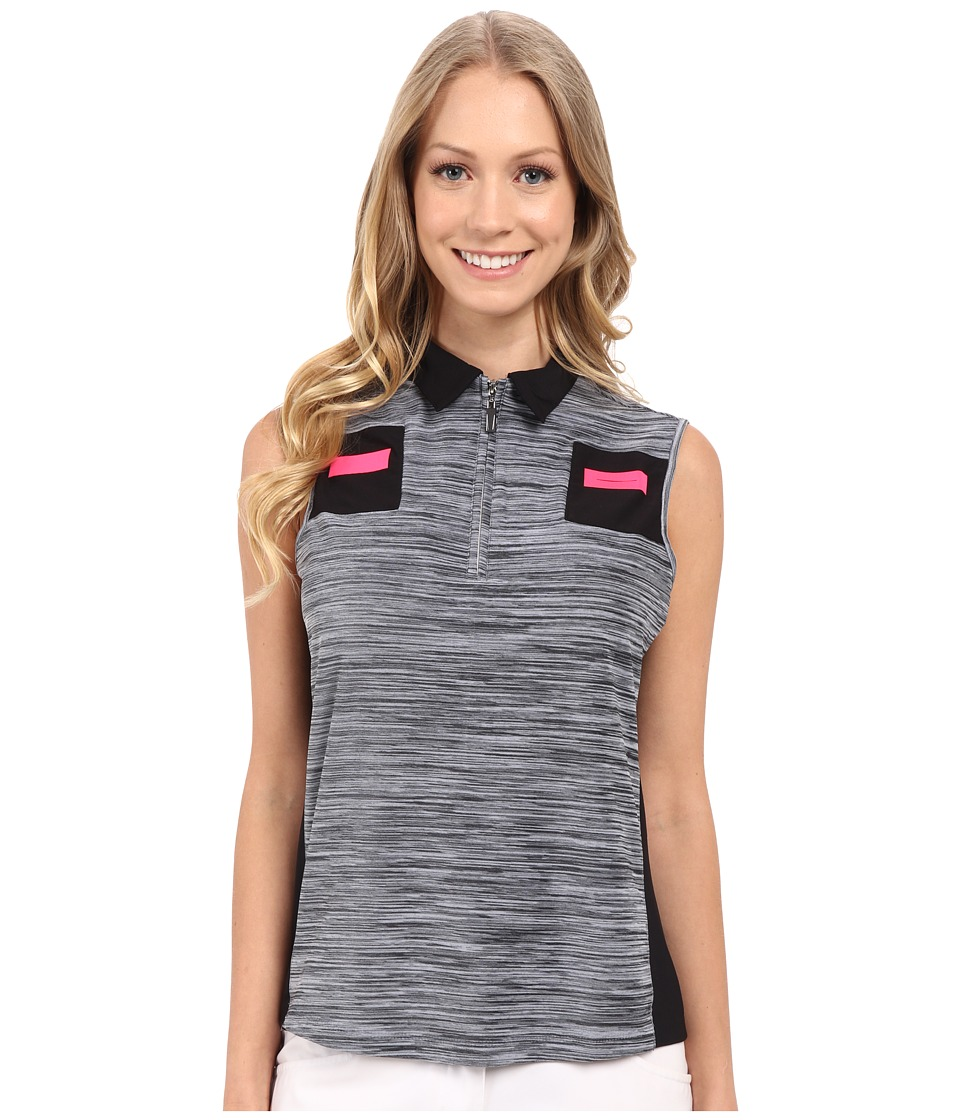Jamie Sadock - Heathered Print Sleeveless Top (Enchantress Pink) Women's Sleeveless
