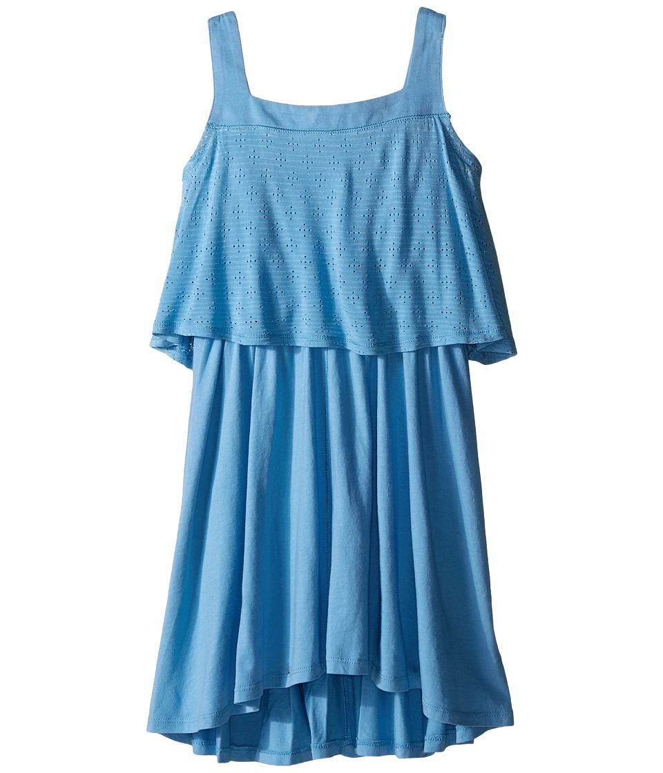 Splendid Littles - Eyelet Tank Dress (Big Kids) (Blue) Girl's Dress