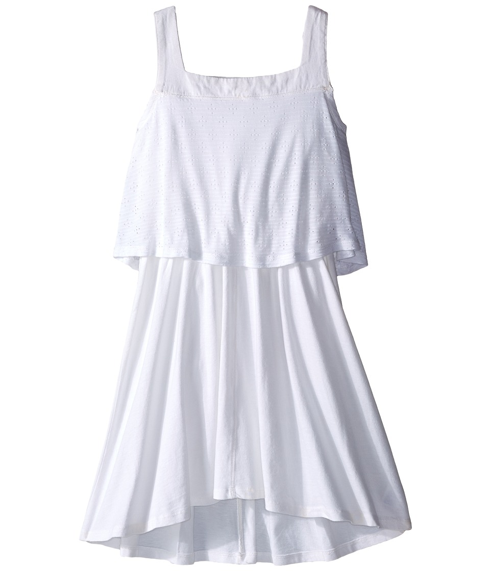Splendid Littles - Eyelet Tank Dress (Big Kids) (White) Girl's Dress