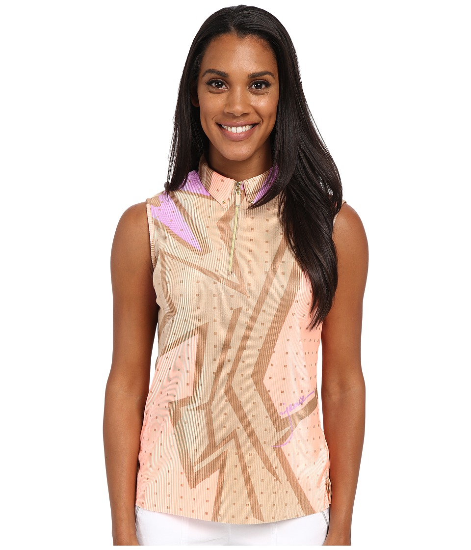 Jamie Sadock - Wham Print Sleeveless Crunchy Top (Contessa) Women's Sleeveless