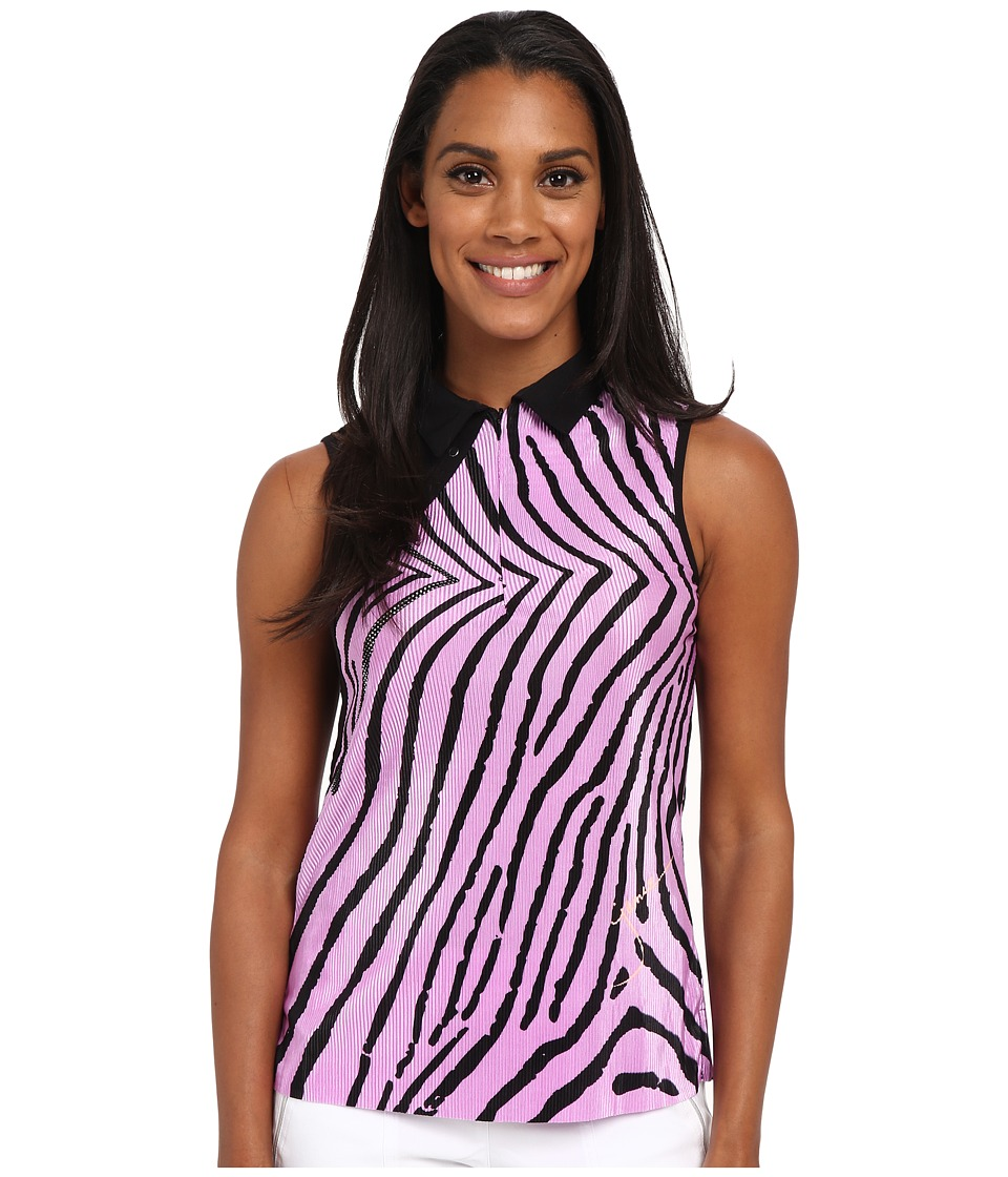 Jamie Sadock - Blow Fish Print Crunchy Sleeveless Top (Amour Lavender and Black) Women's Sleeveless