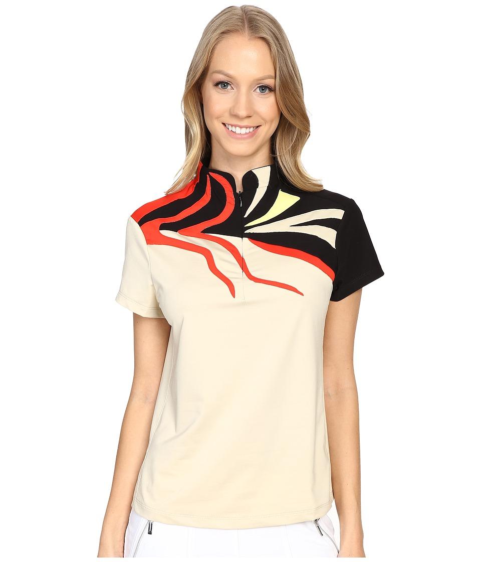 Jamie Sadock - Lindsey Short Sleeve Top (Shitaki) Women's Short Sleeve Knit