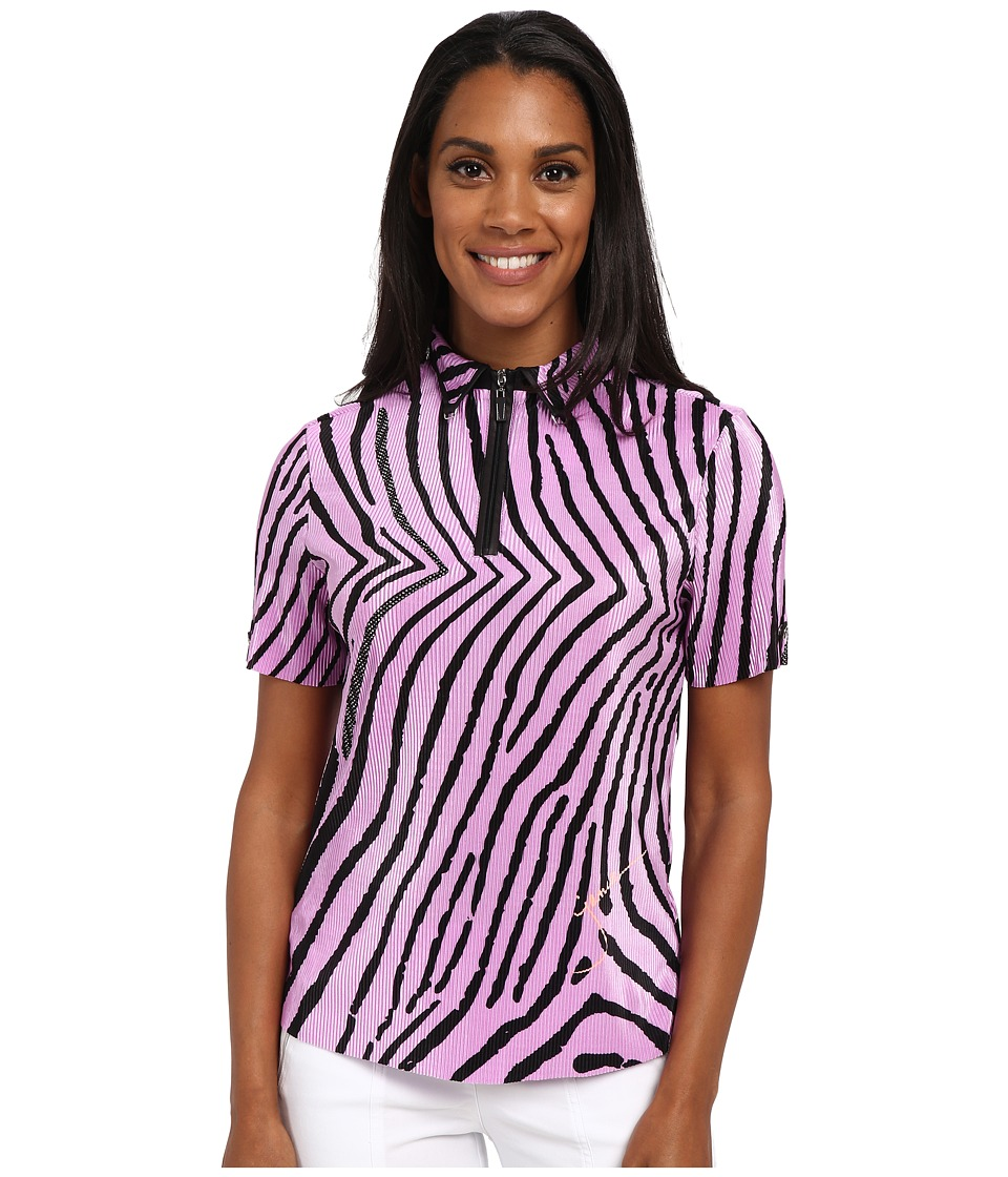 Jamie Sadock - Blow Fish Print Crunchy Short Sleeve Top (Amour Lavender and Black) Women's Clothing