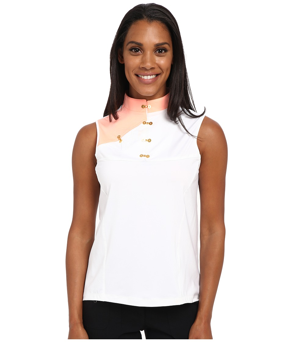 Jamie Sadock - Gina Sleeveless Top (Sugar White with Contessa) Women's Sleeveless