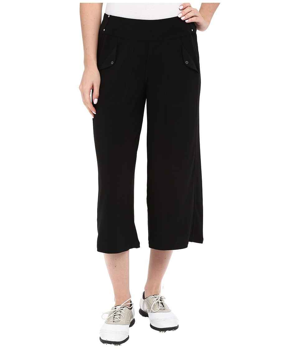 Jamie Sadock - Life Style 30 1/2 Mid Calf Loose Fit Bottom (Jet Black) Women's Casual Pants