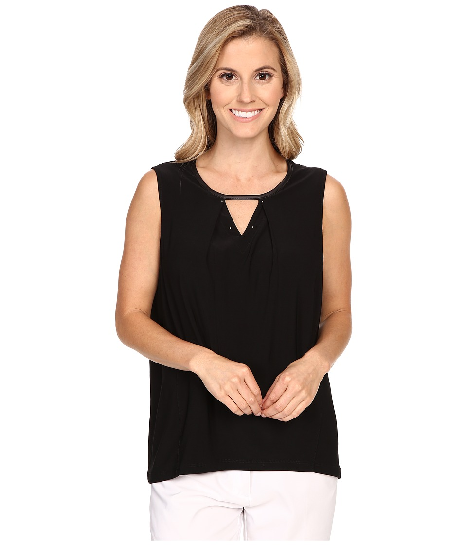 Jamie Sadock - Life Style Lisa Sleeveless Top (Jet Black) Women's Sleeveless