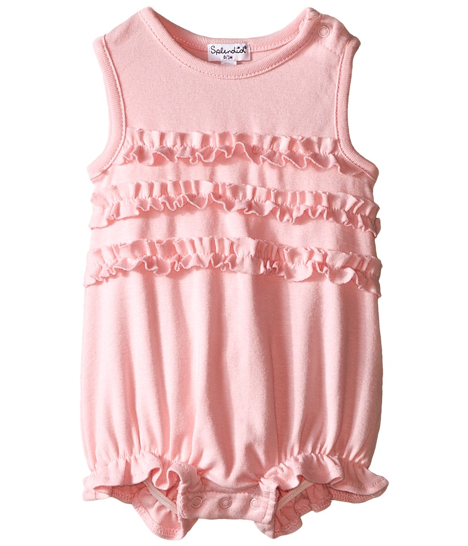 Splendid Littles - Always Ruffle Romper (Infant) (Light Pink) Girl's Jumpsuit & Rompers One Piece