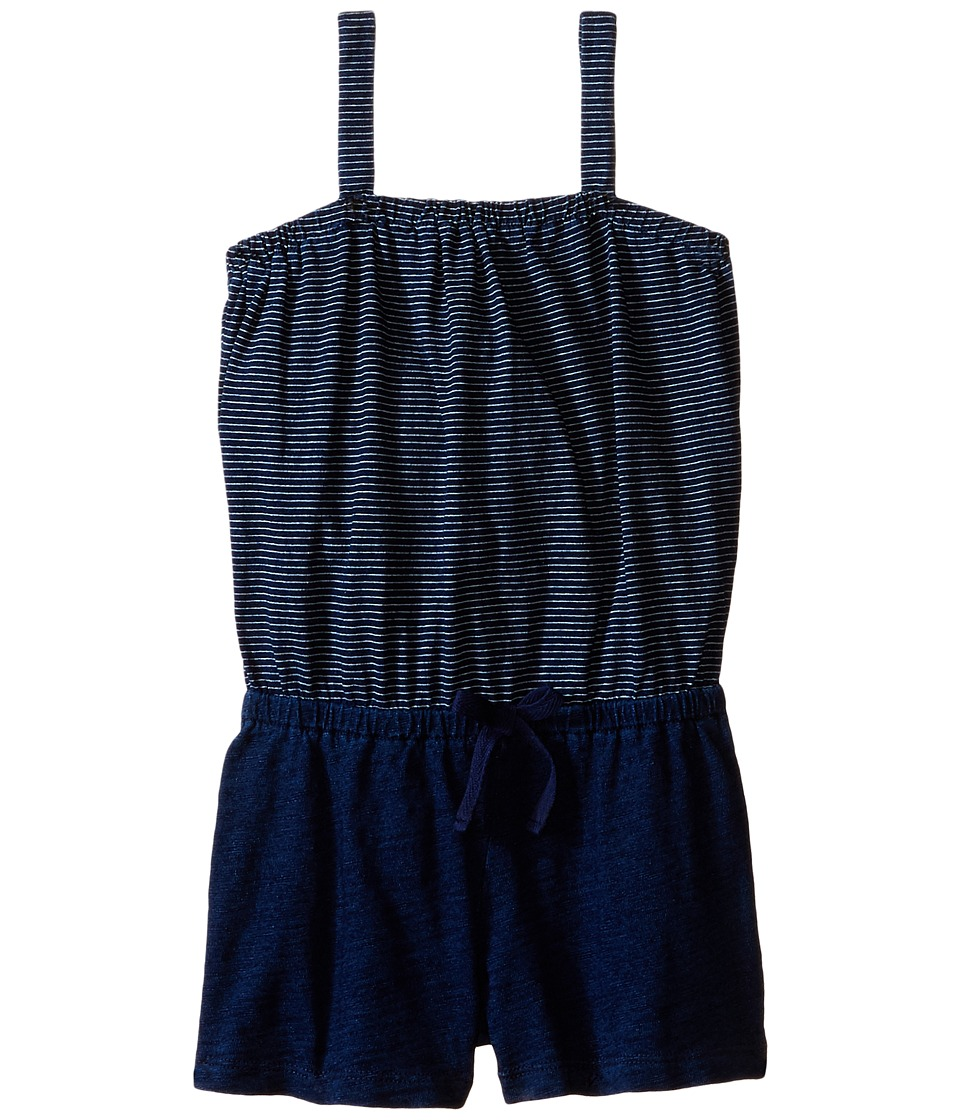Splendid Littles - Indigo Romper (Little Kids) (Dark Stone Stripe) Girl's Jumpsuit & Rompers One Piece
